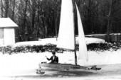 1938 Eissegeln auf dem Elsterstausee