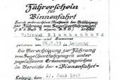 1949 Segelschein Binnenfahrt