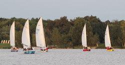 Jollenkreuzer auf dem Kulkwitzer See