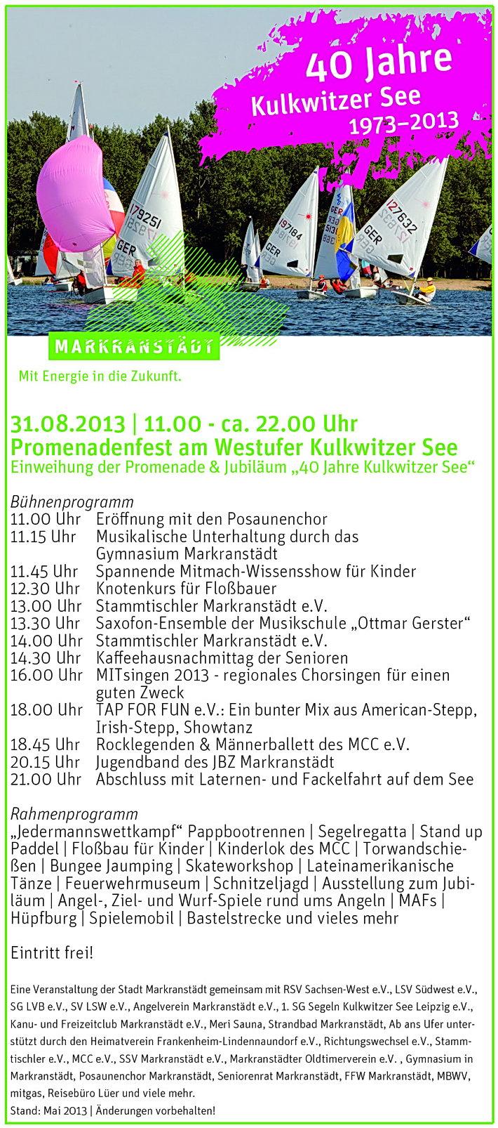 Flyer Promenadenfest 2013